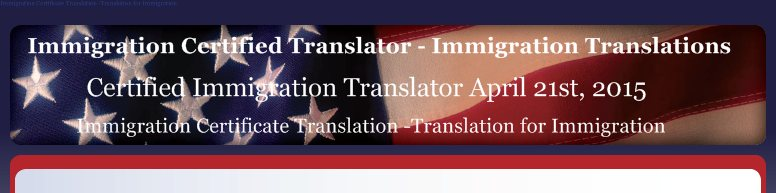 Immigration Certified Translator - Immigration Translations - Certified Immigration Translator April 21st, 2015
